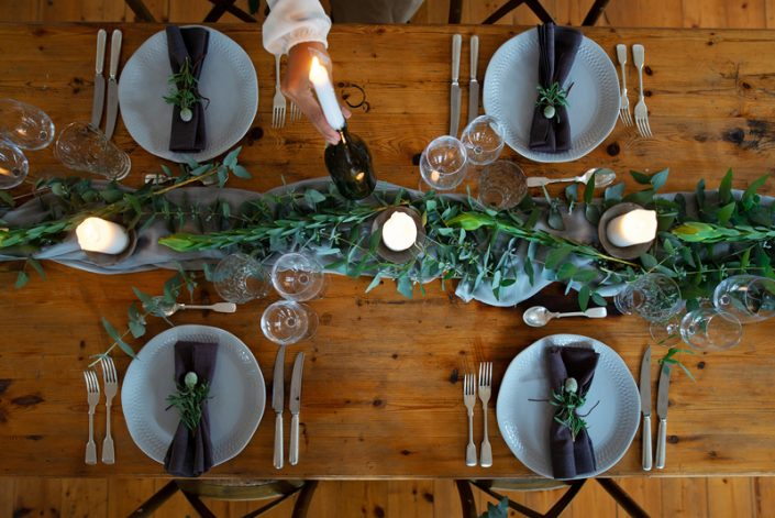 Table decor at one of the best wedding venues Cape Town has to offer - The Homestead.